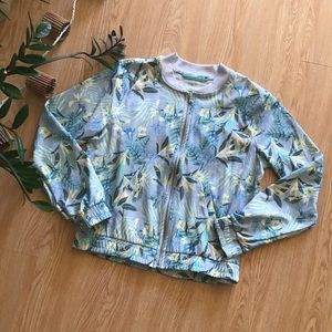 Old Navy active tropical print bomber jacket